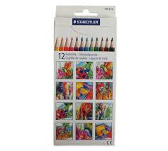 مداد رنگی استدلر مقوایی 12 رنگ