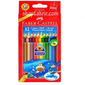 مداد رنگی آبرنگی 12 رنگ فابر کاستل