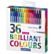 روان نویس نمدی 36 رنگ استدلر
