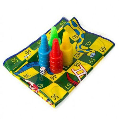 بازی منچ و مارپله پارچه ایی