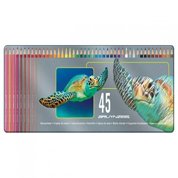 مداد رنگی برونزیل 45 رنگ