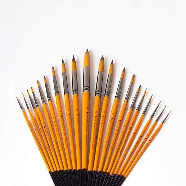 قلم مو گرد دسته کوتاه پارس آرتیست