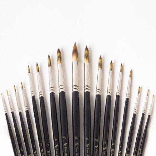 قلم مو گرد دسته بلند(Gold)پارس آرتیست