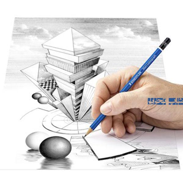 مداد طراحی استدلر لوموگراف ست 12 عددی