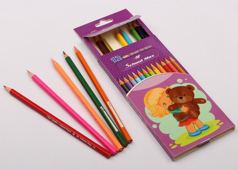 مداد رنگی 12 رنگ اسکول مکس