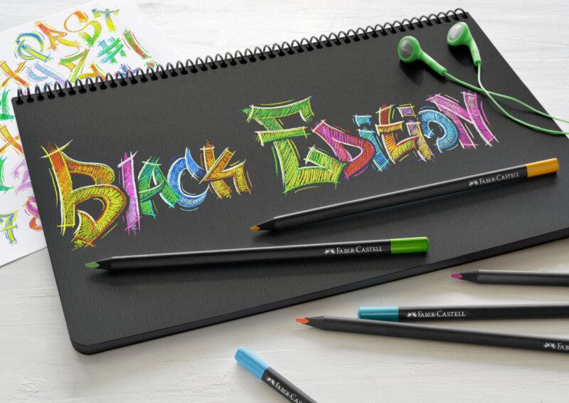 مداد رنگی چوب سیاه فابر کاستل